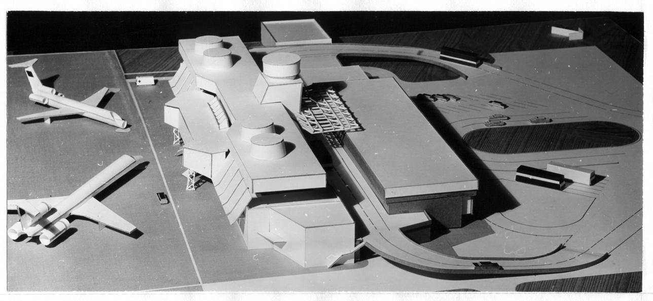 Макет аэропорта, кторый планировалось построить в Целинограде