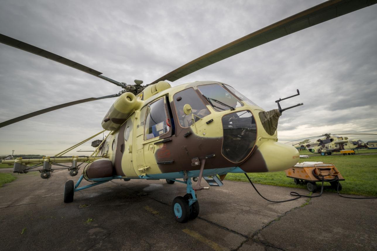 Ми-171 Ш на стоянке Бурундайской авиабазы