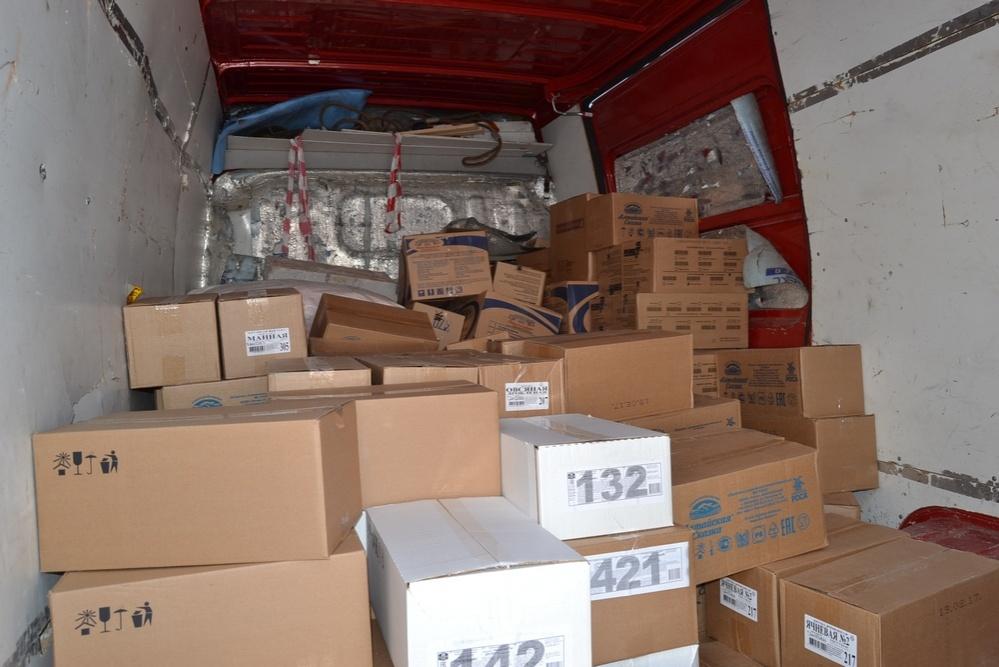 Восемь тонн продуктов на пяти машинах прибыли из Тюмени в СКО