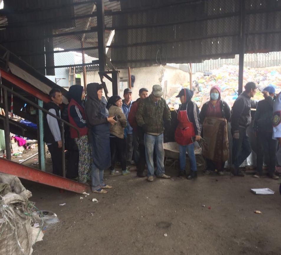 Цех по переработке мусора в Турксибском районе Алматы