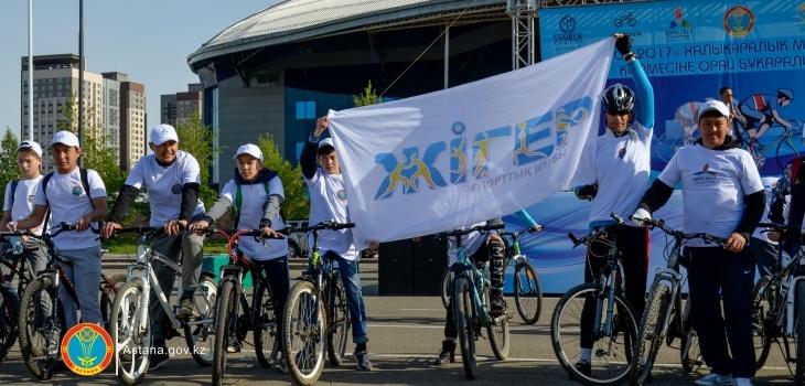 Участники велопробега после финиша