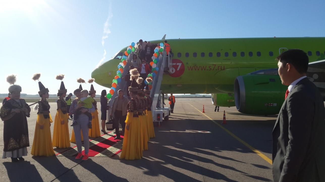 Открытие рейса S7 Кокшетау- Москва