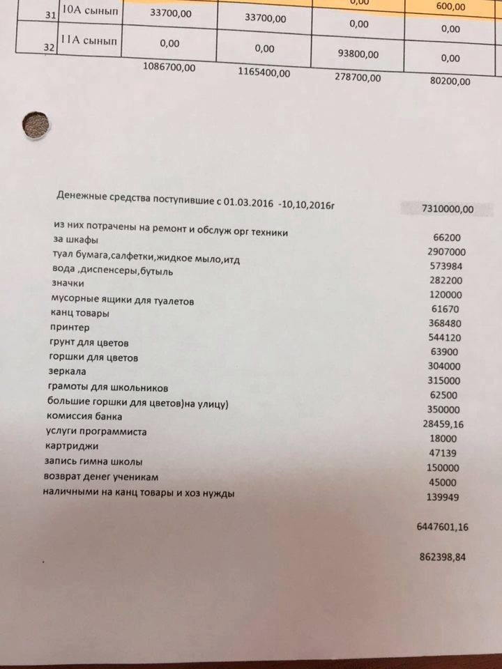 Отчёт попечительского совета школы-лицея № 82