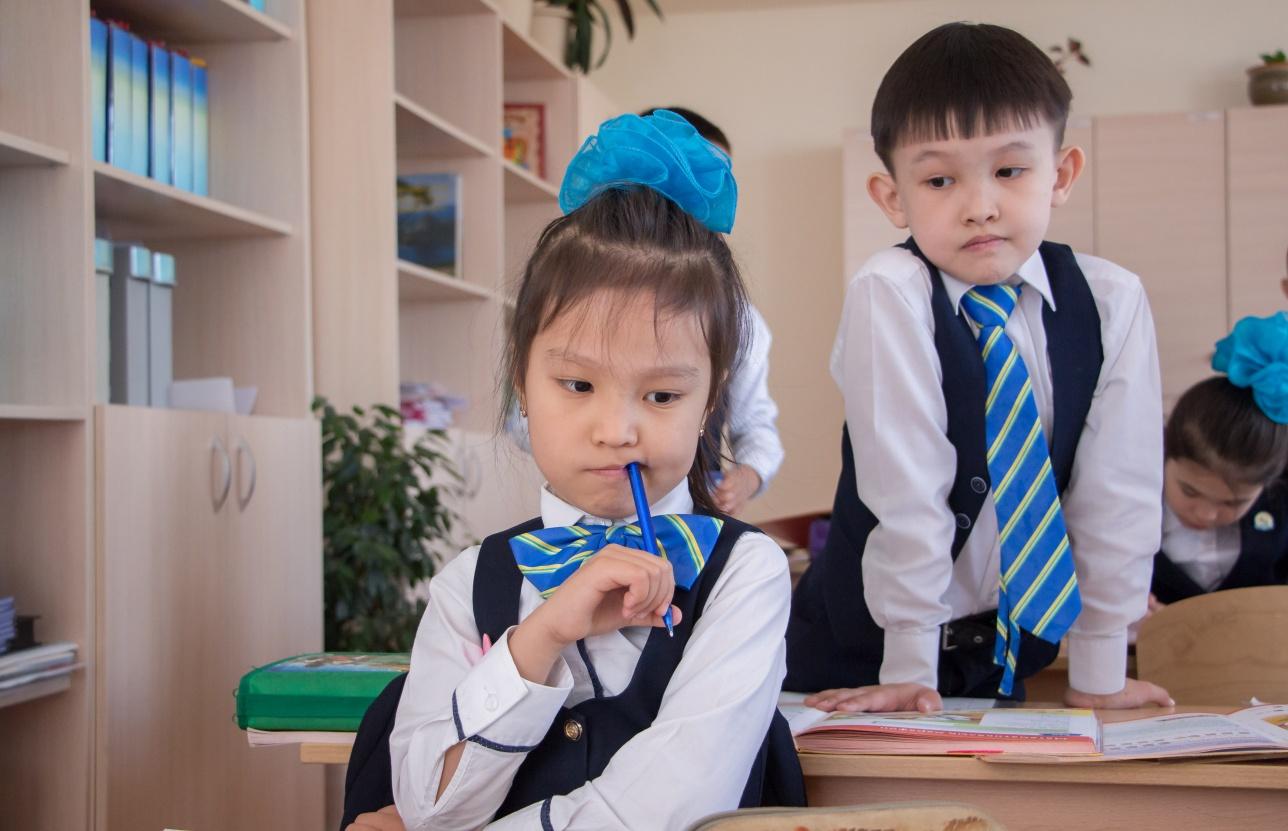 Учащиеся школы-гимназии № 82 города Астаны
