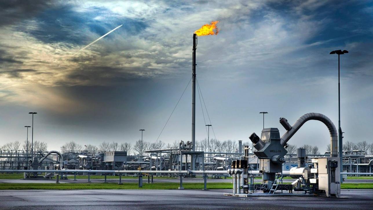 Нидерландының Гронинген қаласындағы Shell Nederland табиғи газды өңдейтін зауыты