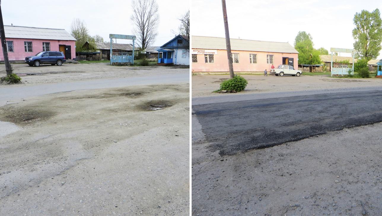 Фото до и после спешного ремонта