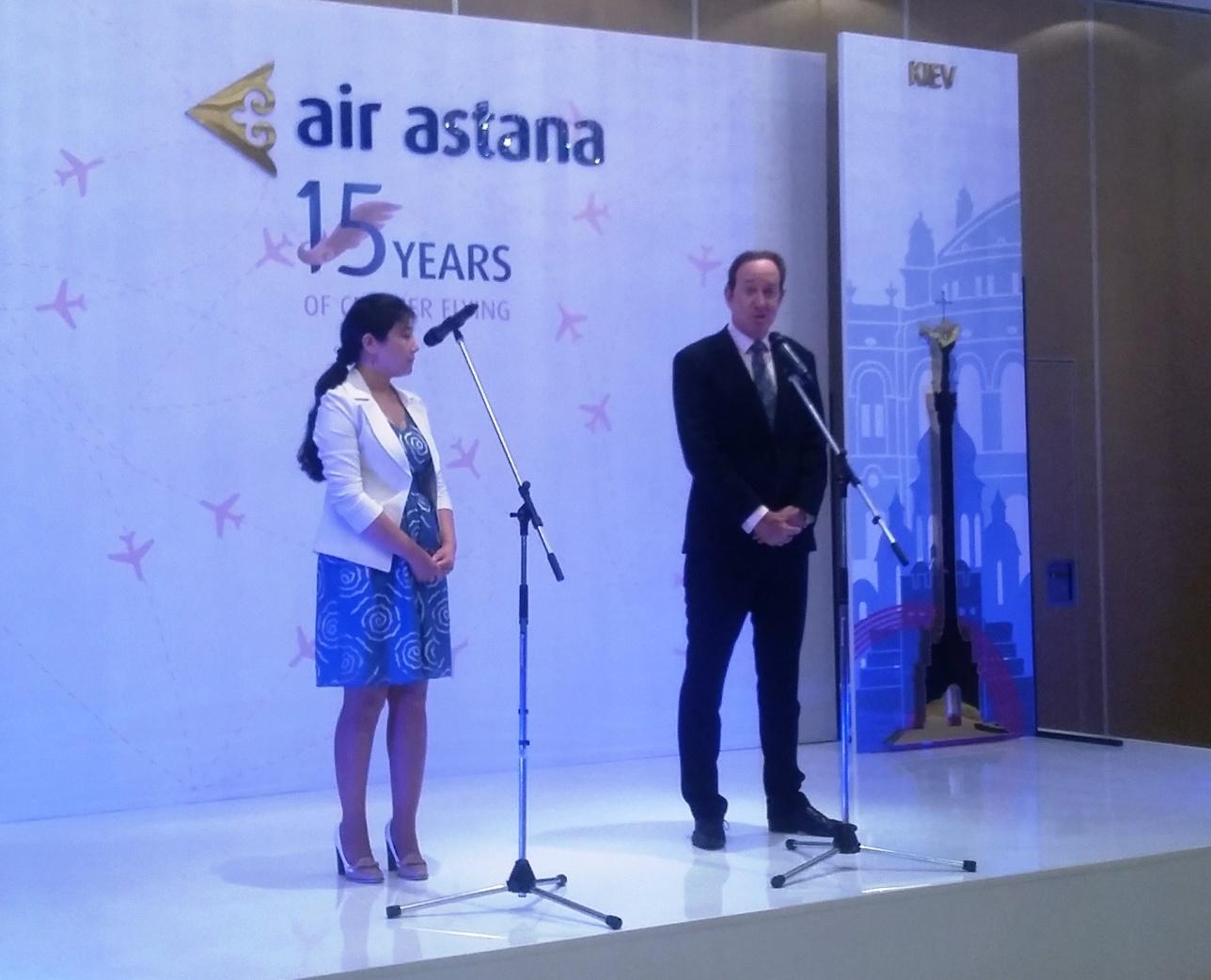 Питер Фостер рассказывает о возобновлении рейсов Астана - Киев