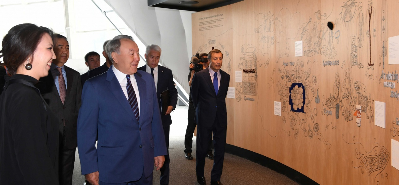 Президент РК посещает казахстанский павильон на ЭКСПО-2017