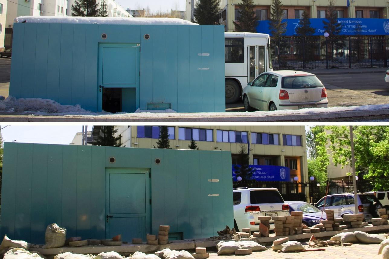 Неработающий комплекс на улице Мамбетова