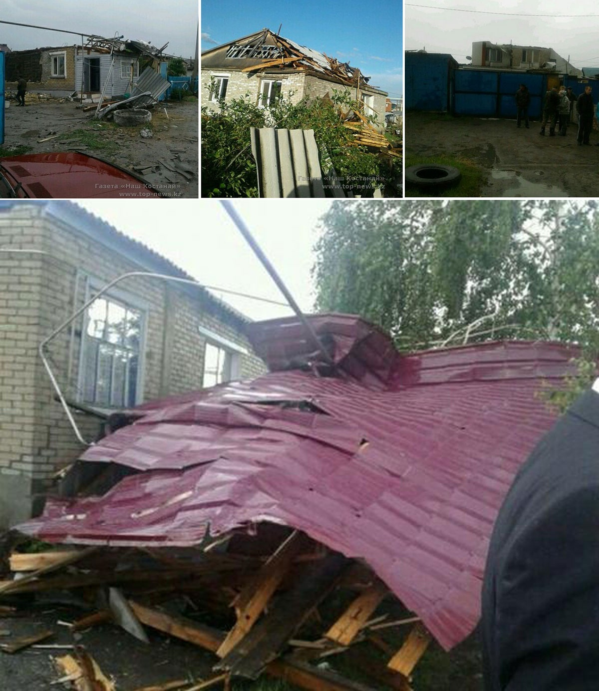 Район Костанай-2 пострадал от стихии наиболее сильно