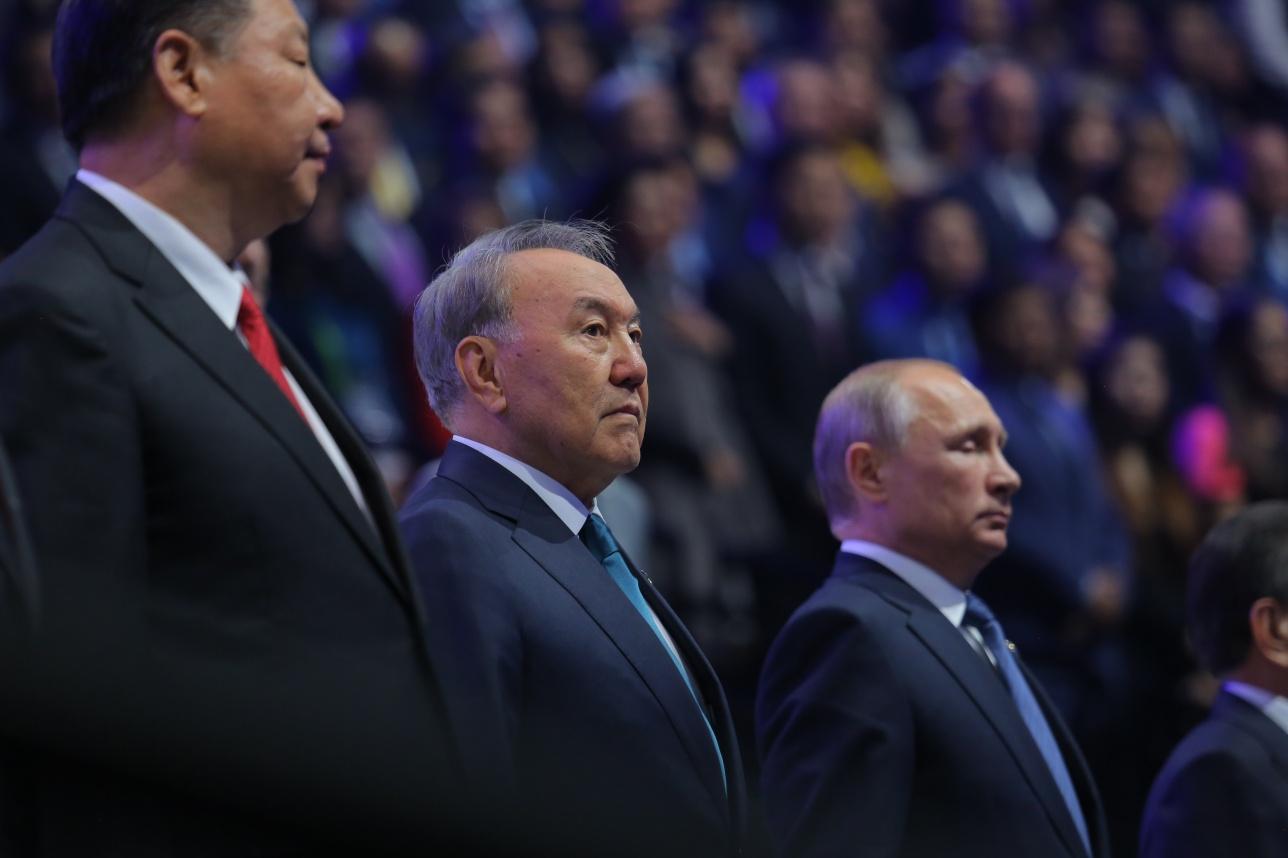 Нурсултан Назарбаев на церемонии открытия выставки ЭКСПО-217
