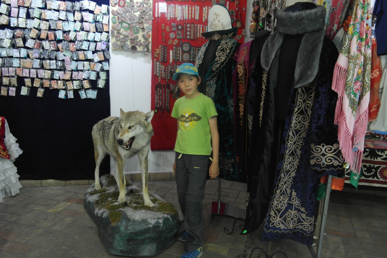 Элиас в магазине сувениров