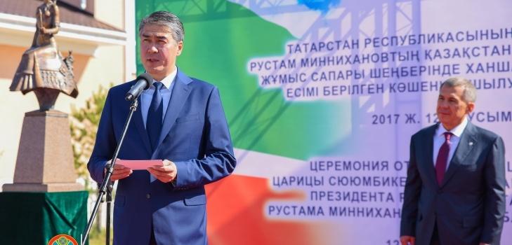 На церемонии открытия новой улицы в Астане присутствовал аким города