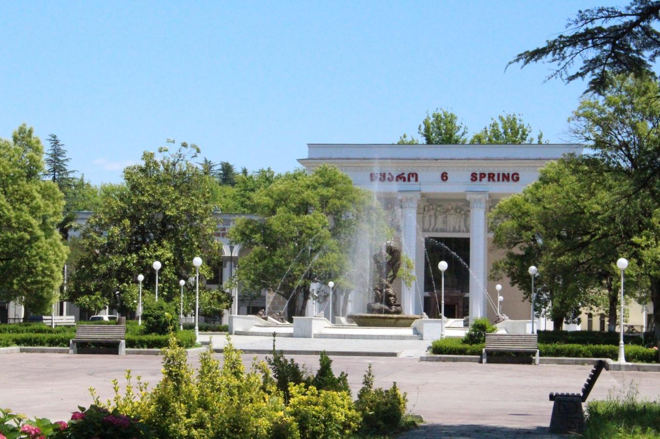 Сталинские бани в городе Цхалтубо