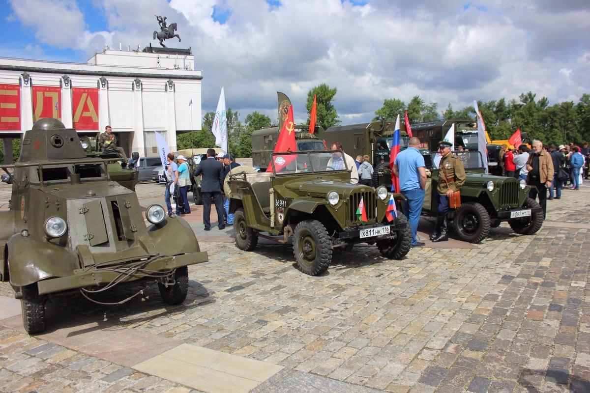60 человек отправилось в пробег по местам боевой славы Красной Армии в годы ВОВ