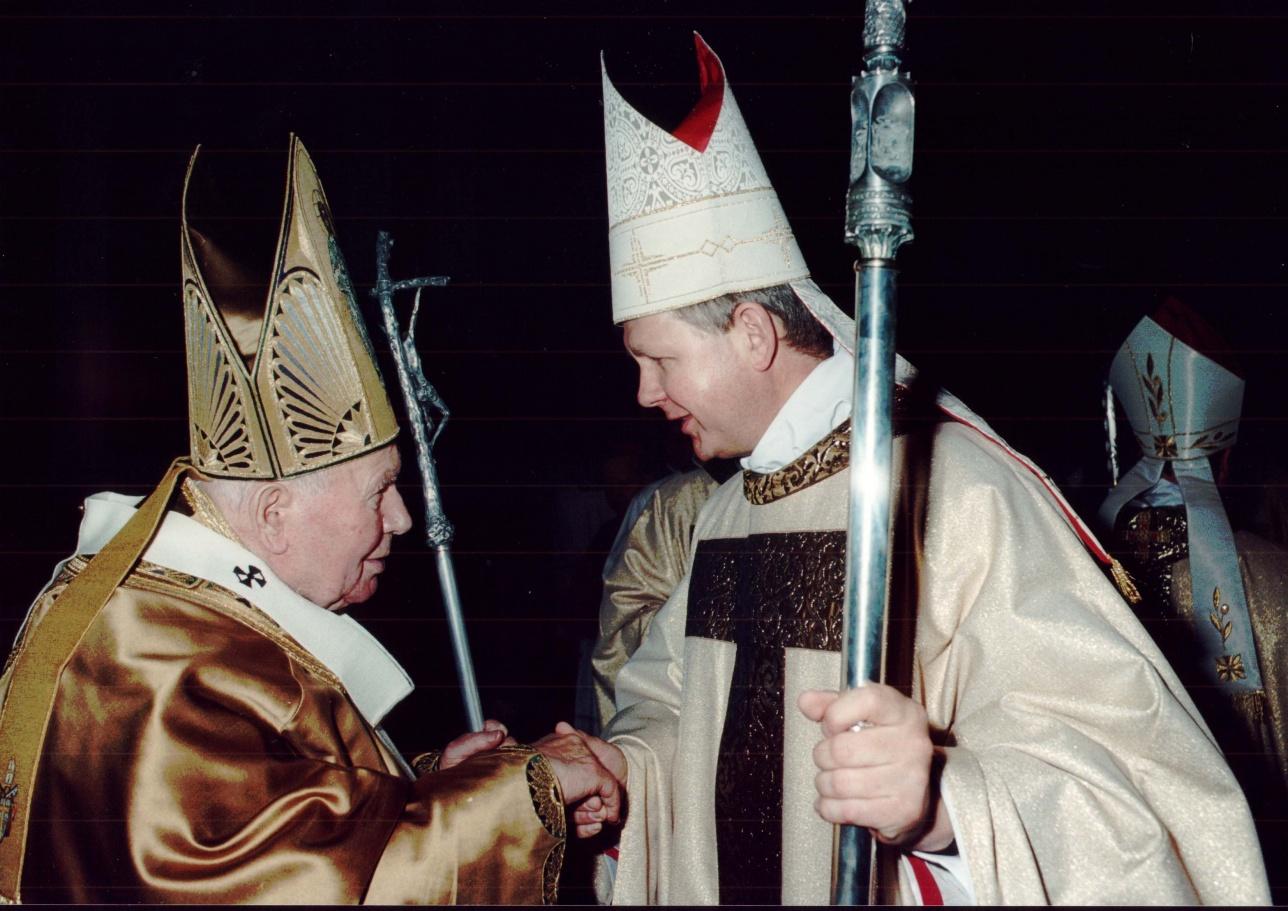 Томаш Пэта с Папой Иоанном Павлом