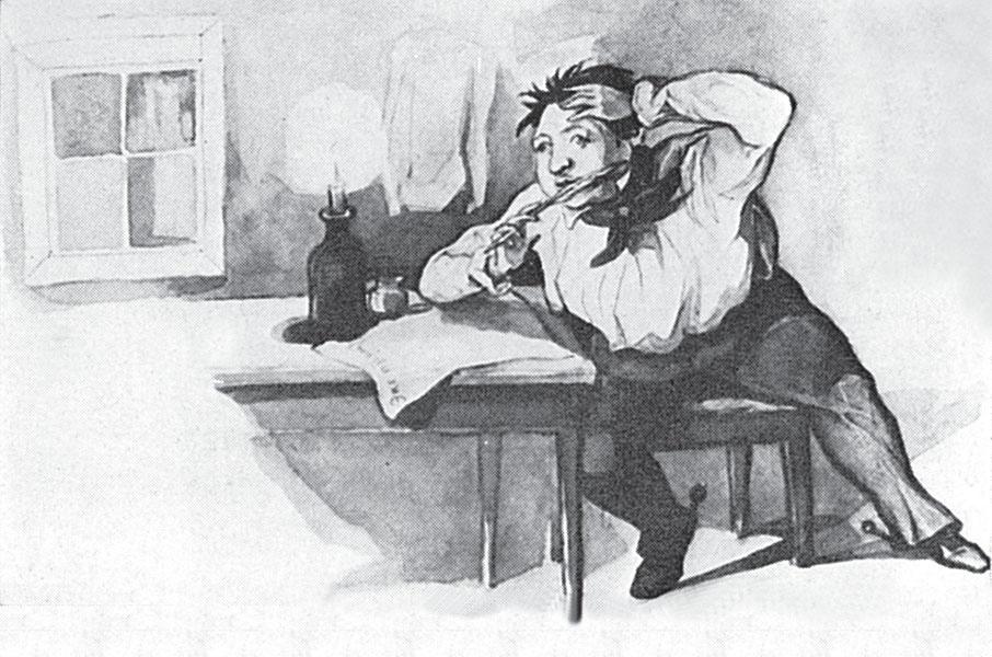 Ф.В.Булгарин. Карикатура