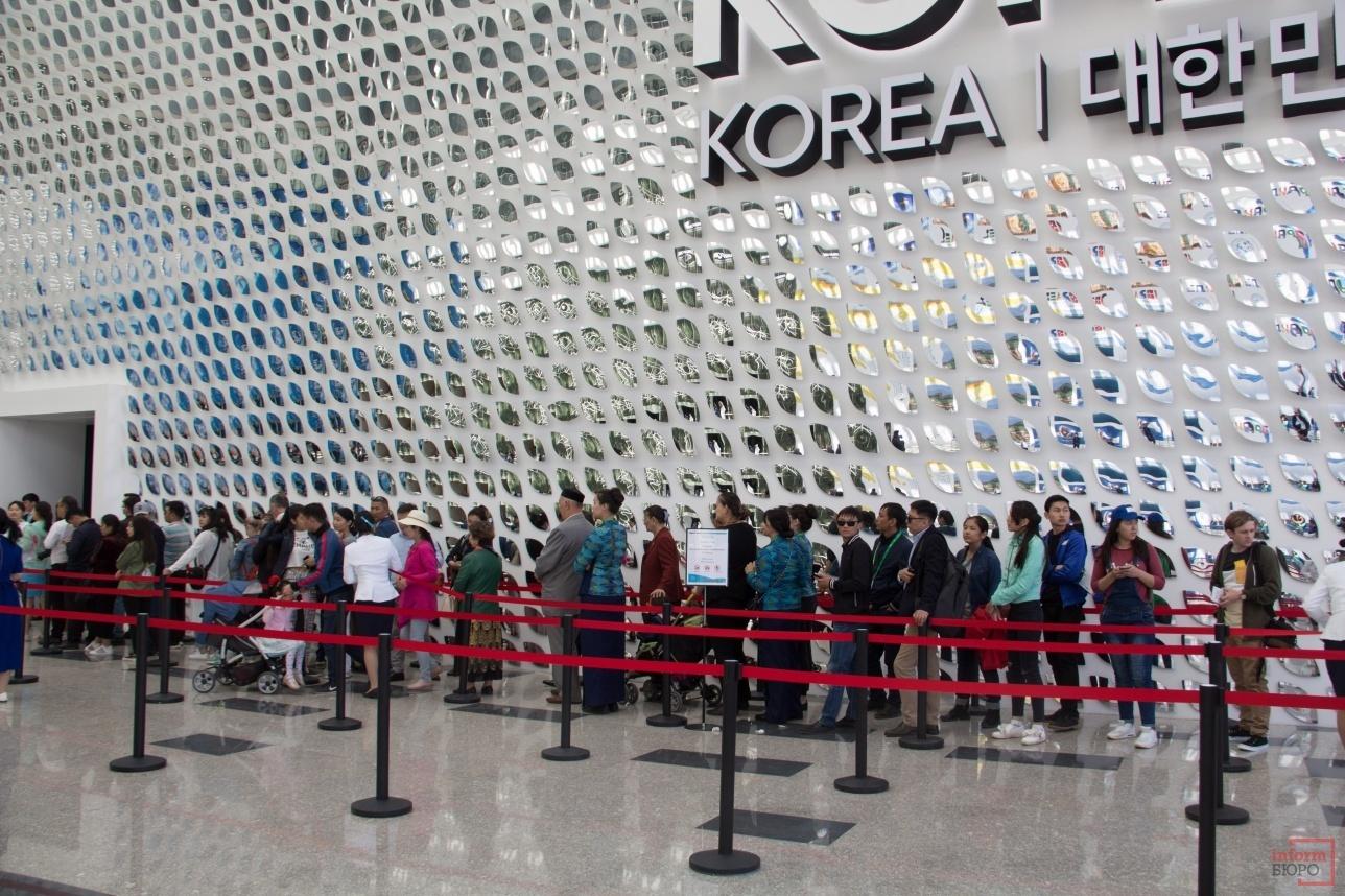 Павильон Южной Кореи пользуется популярностью