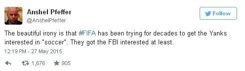 """""""Ирония в том, что ФИФА десятилетиями пыталась заинтересовать американцев в """"соккере"""". Все что получилось у них – заинтересовать ФБР"""""""