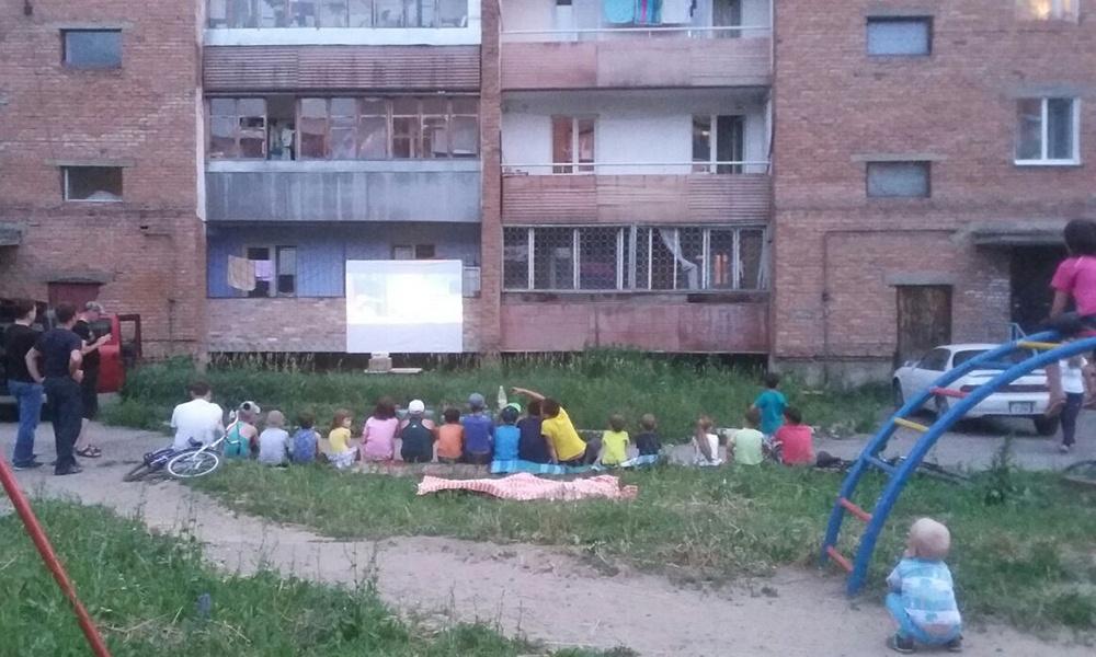 Летний кинотеатр в селе Белоусовка ВКО
