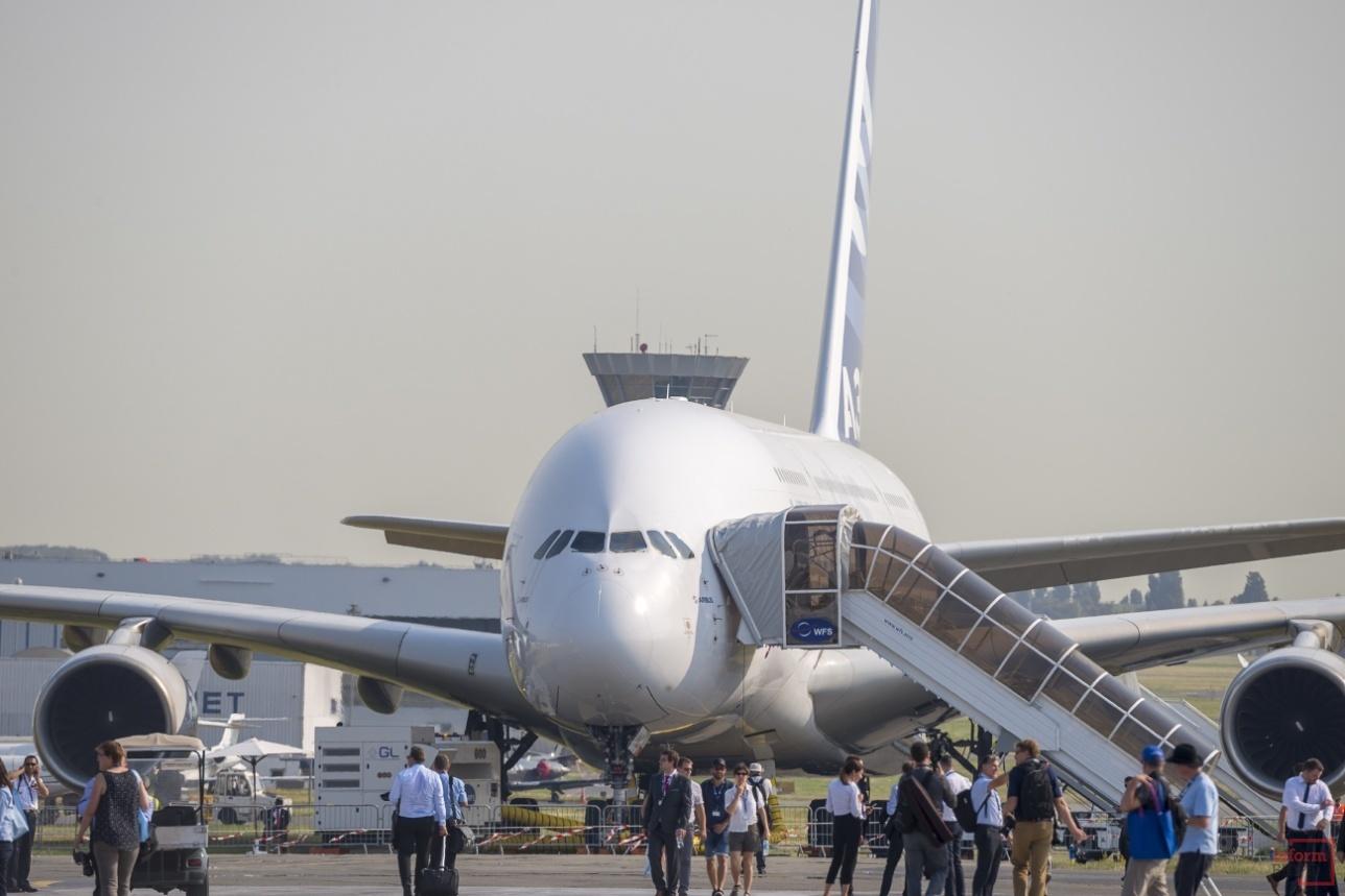 A 380plus на стоянке перед вылетом