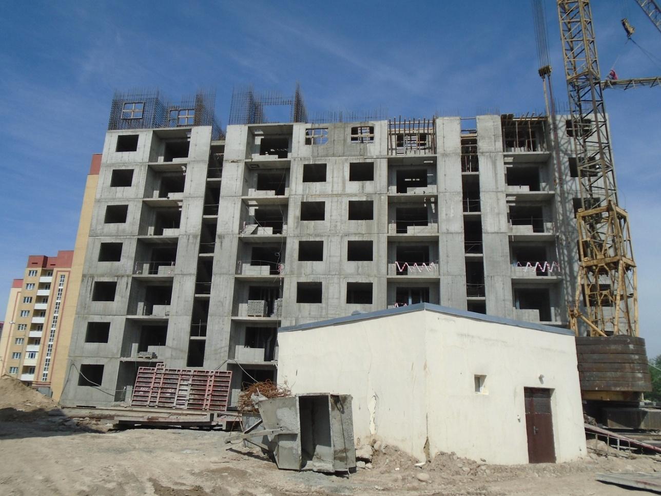 """Строительство многоэтажного жилого комплекса в микрорайоне """"Жас Канат"""""""