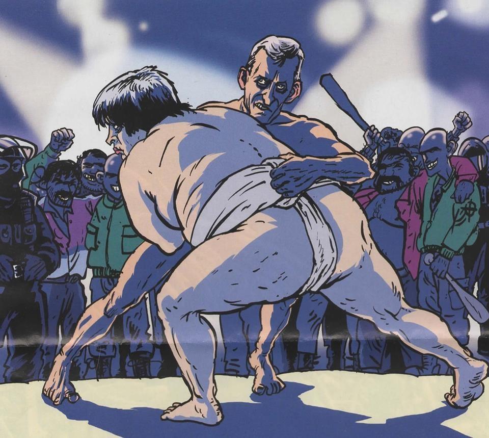 """Одна из самых знаменитых пародий на министра """"Борец сумо"""""""