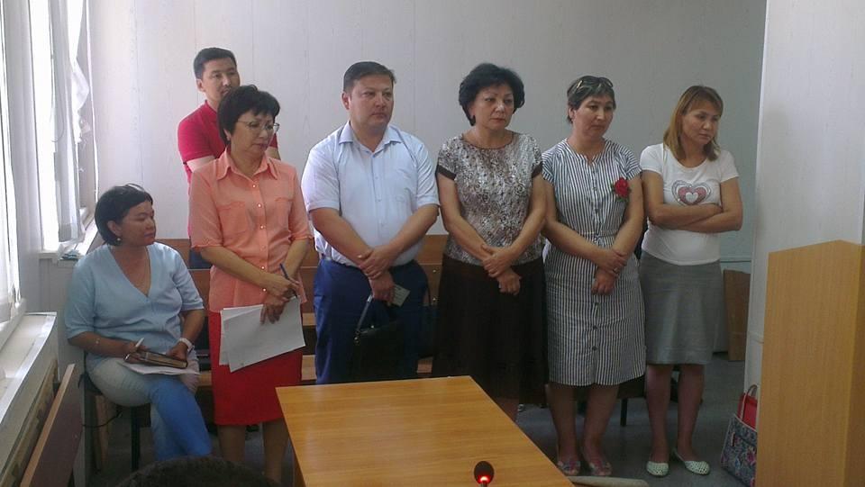 Сотрудники акимата Сатпаева