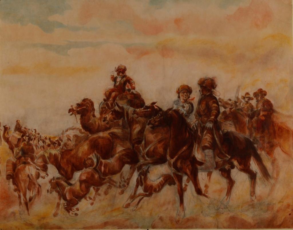 историю Казахстана можно проследить в работах художника