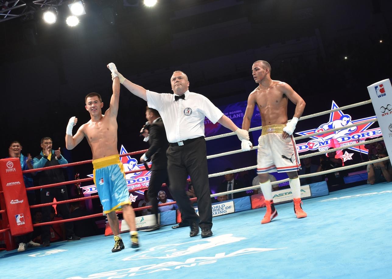 Astana Arlans положил на лопатки Cuba Domadores благодаря победе Олжаса Байниязова в дополнительном поединке
