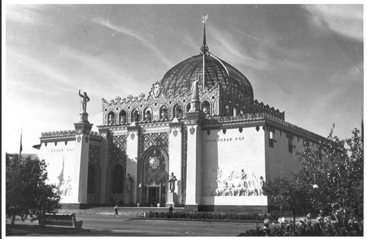 Изначально павильон Казахской ССР на ВДНХ выглядел вот так