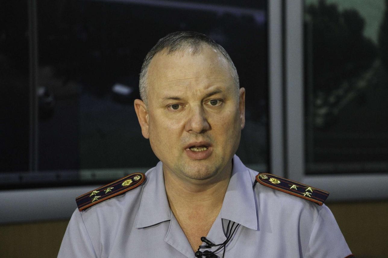Начальник ЦОУ ДВД Алматы Андрей Квашнин