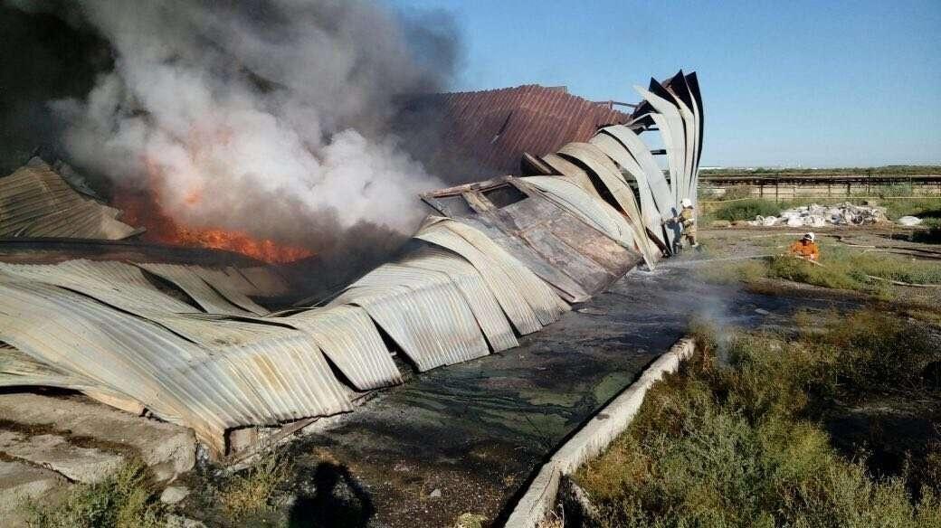 Пожар в Туркестане