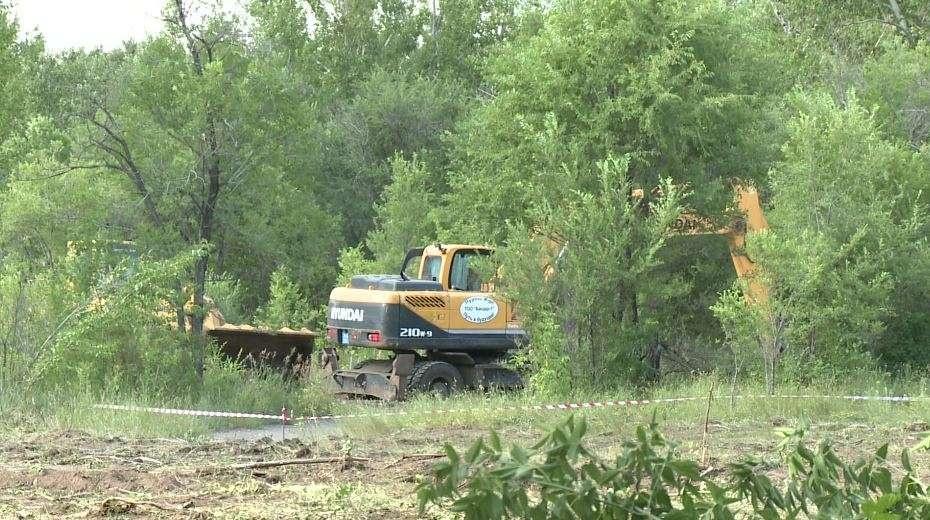 Работы в Центральном парке Караганды остановлены