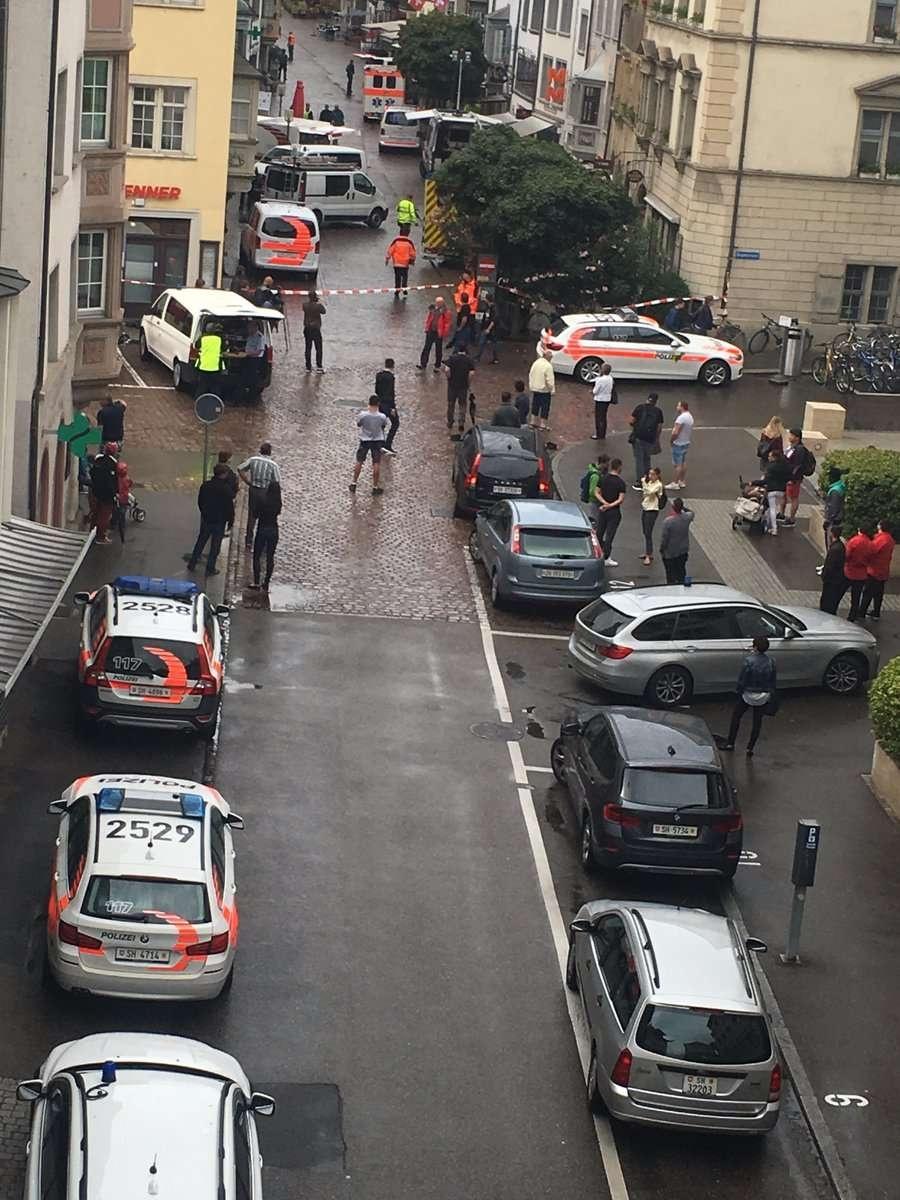На старую часть Шаффхаузена направлено подкрепление полиции