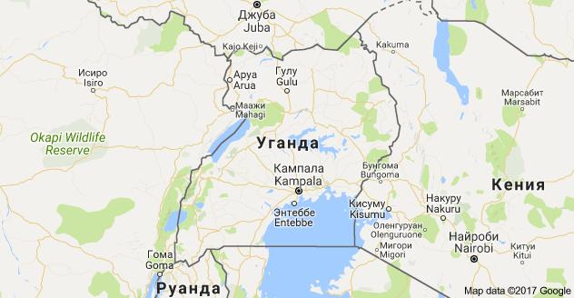 Карта расположения Республики Уганды