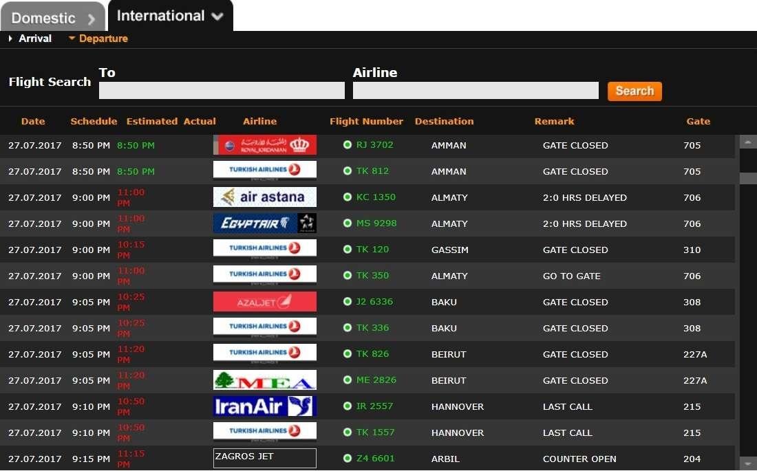 Десятки рейсов были задержаны в аэропорту Стамбула
