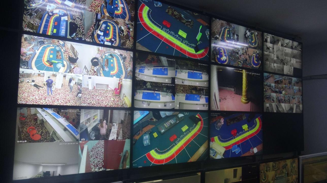 Система видеонаблюдения в казино