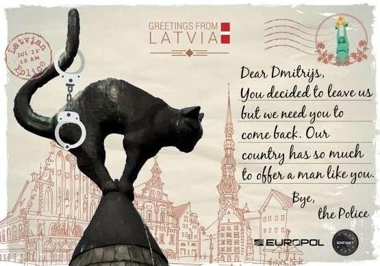 Латвия. Карточка для розыска Дмитриса Тисценко, подозреваемого в незаконном обороте наркотиков и психотропных веществ. Расследование случая продолжается