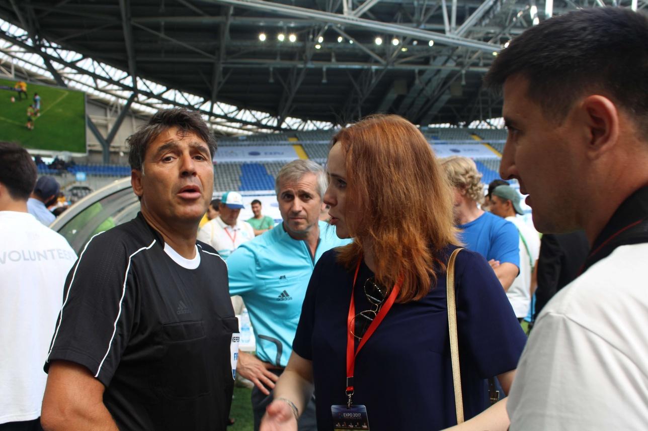 Массимо Бузака отсудил пару матчей на EXPO 2017 Football Cup в Астане