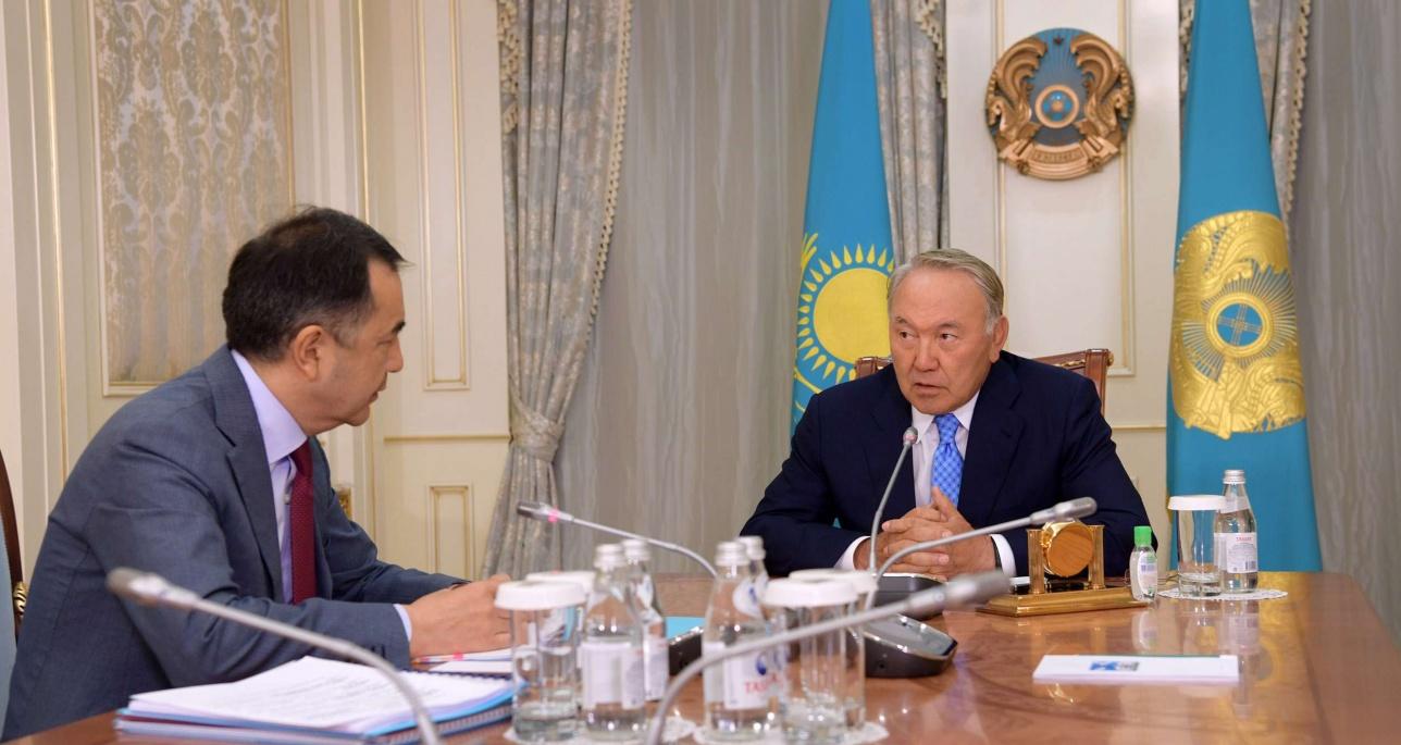 Глава государства встретился с премьер-министром РК Б.Сагинтаевым