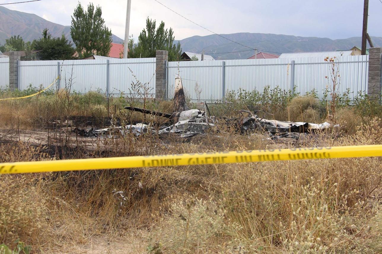 Сгоревший самолёт