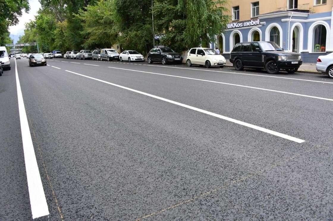 В Алматы завершается ремонт дорог на трёх улицах