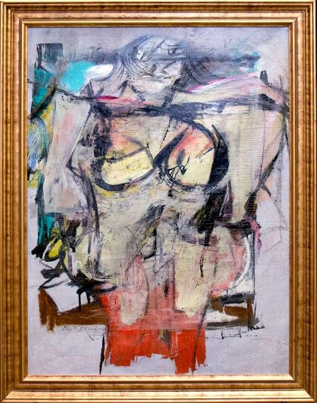 """Картина нидерландского художника Виллема де Кунинга """"Женщина – Охра"""""""