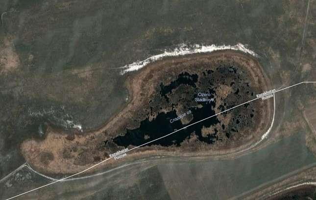 Озеро Сладкое стало полностью казахстанским