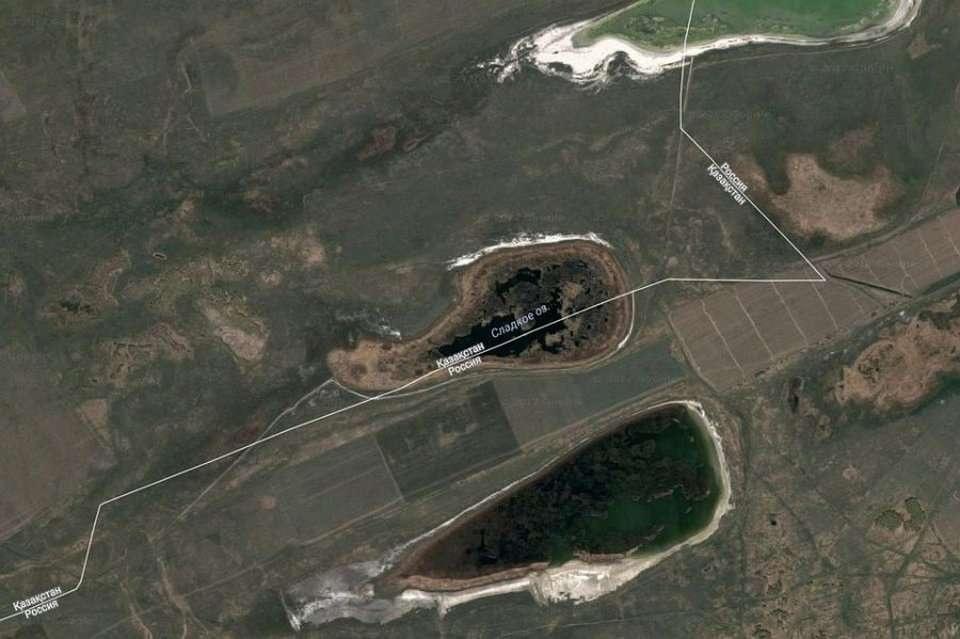 Озеро Сладкое в Google Maps