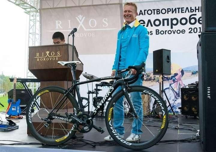 Rixos Borovoe 2014. Винокуров представил на аукционе свой велосипед