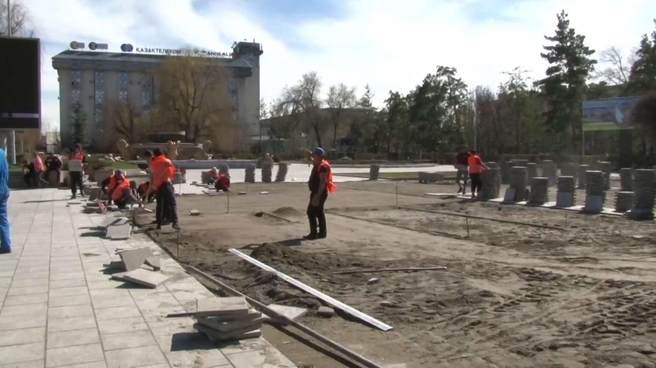 Главную площадь Талдыкоргана переделывают третий раз за год