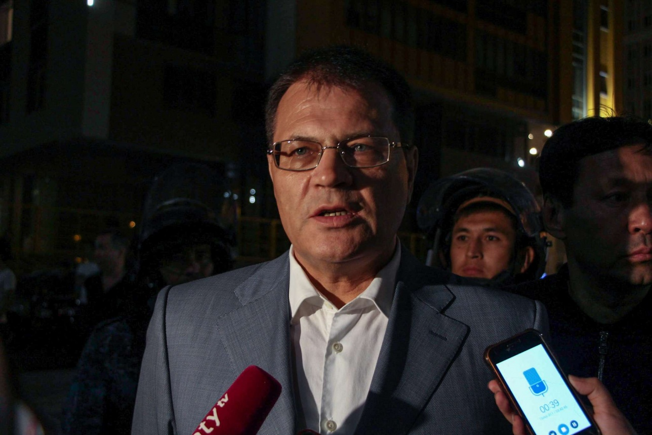 Заместитель генерального прокурора Андрей Лукин контролировал ситуацию на улицах Астаны