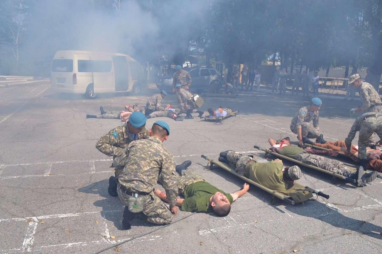 Американские военные обучали казахстанских коллег оказанию первой помощи при массовых ранениях